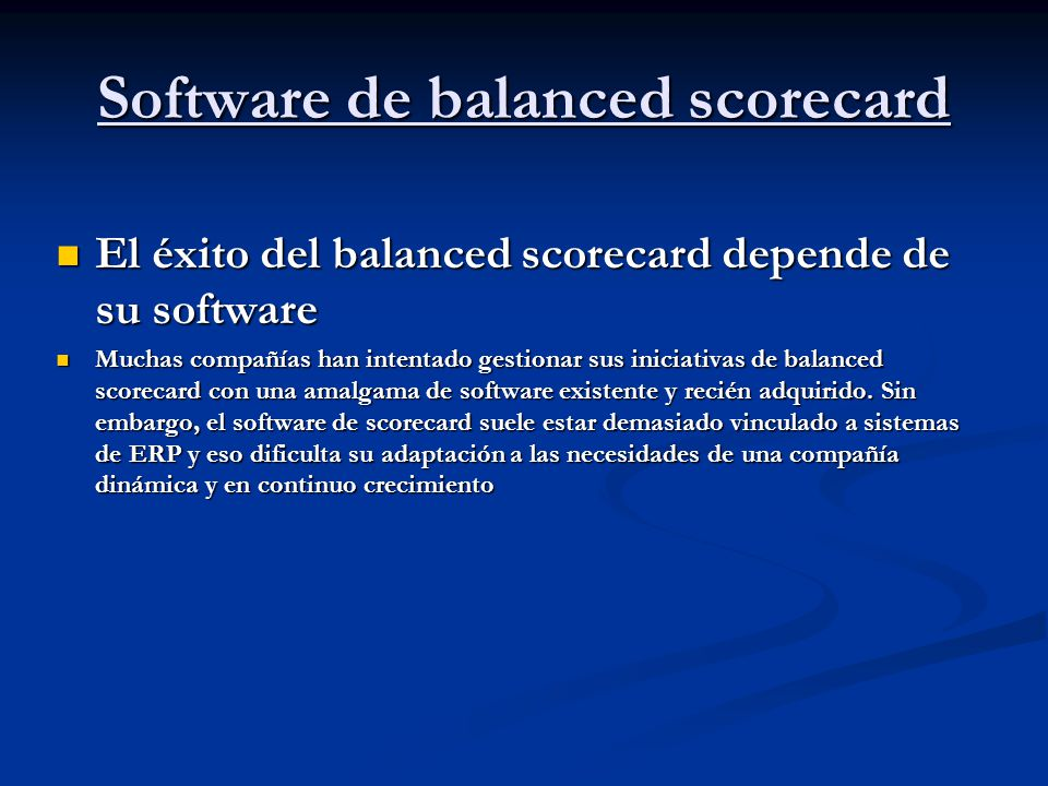 Software de balanced scorecard