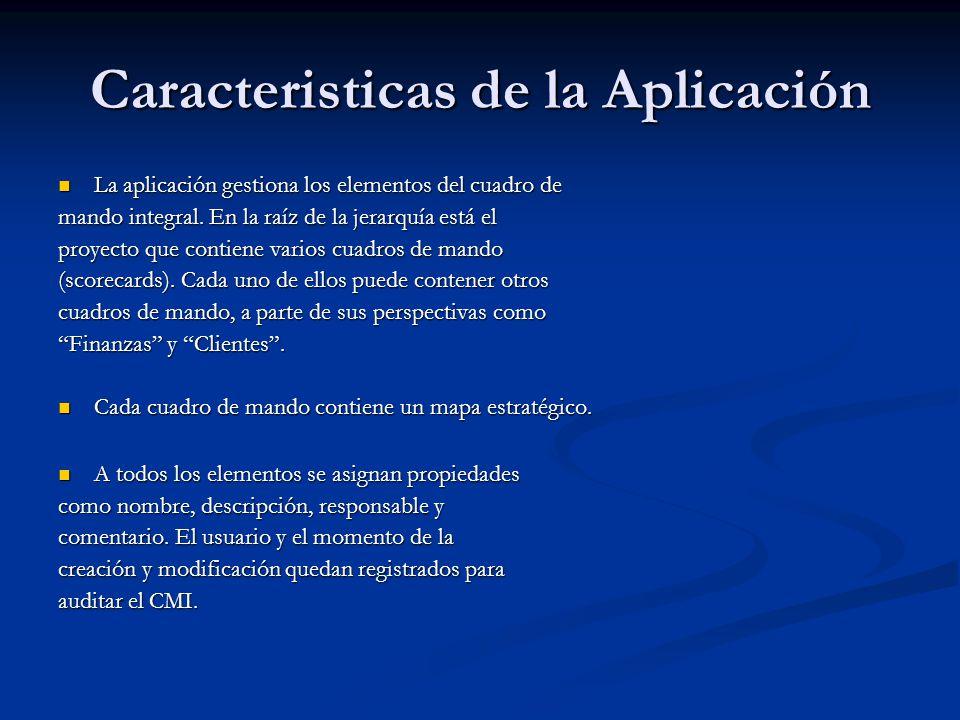 Caracteristicas de la Aplicación