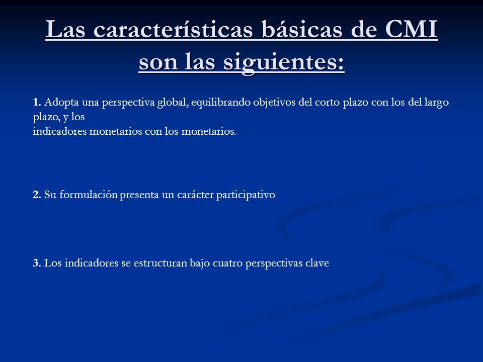 Las características básicas de CMI son las siguientes:
