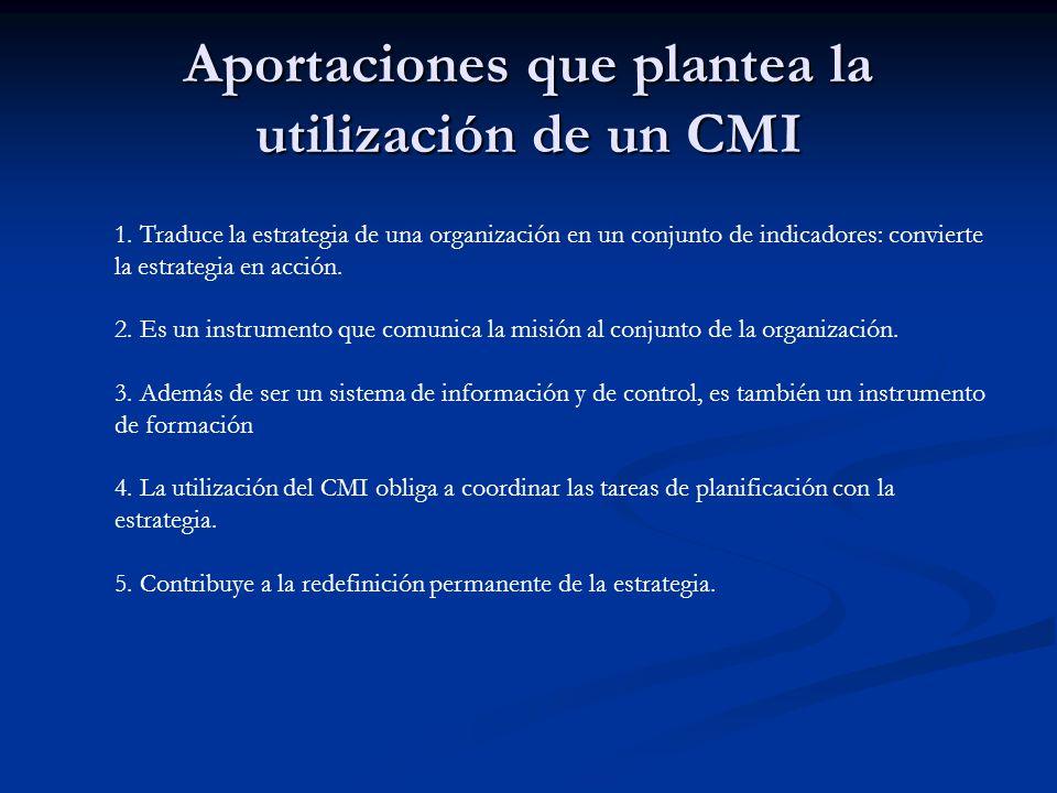 Aportaciones que plantea la utilización de un CMI