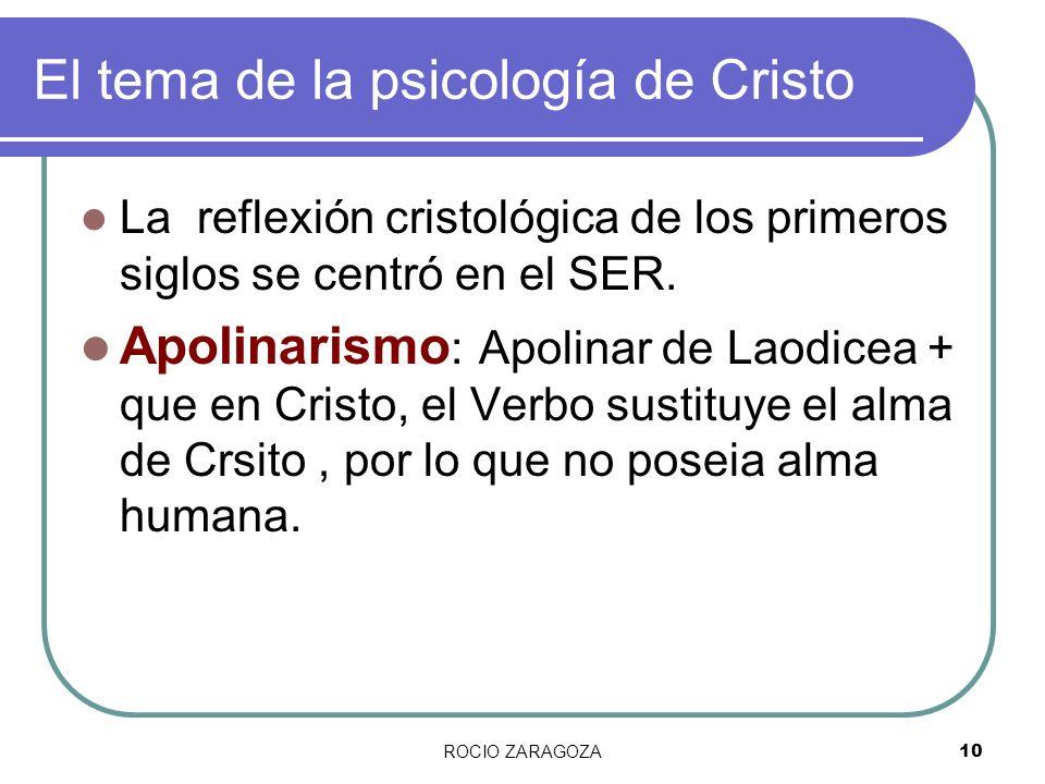 El tema de la psicología de Cristo