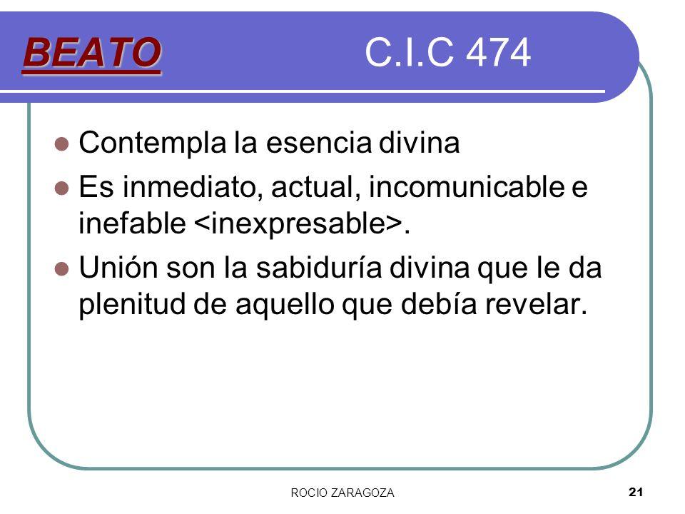 BEATO C.I.C 474 Contempla la esencia divina