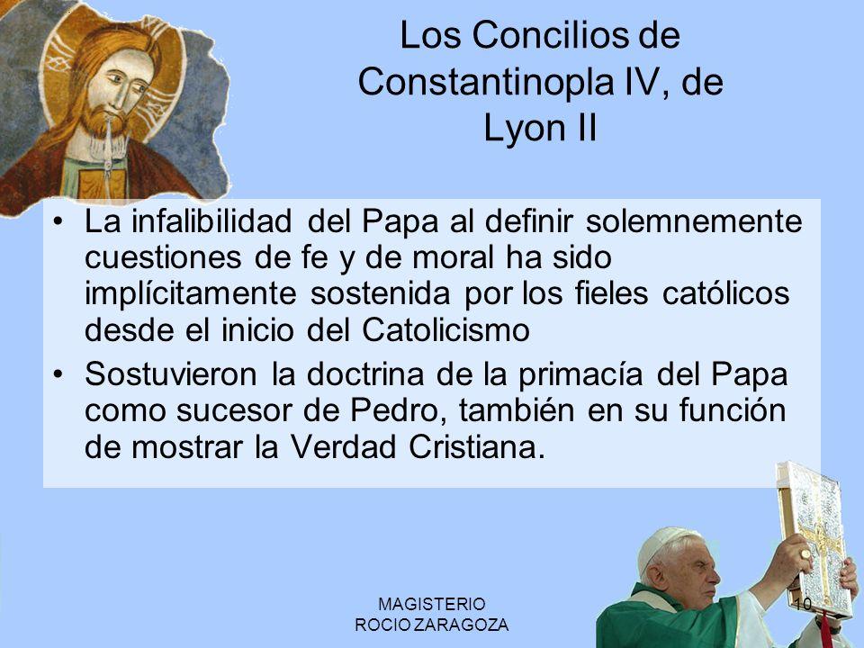 Los Concilios de Constantinopla IV, de Lyon II