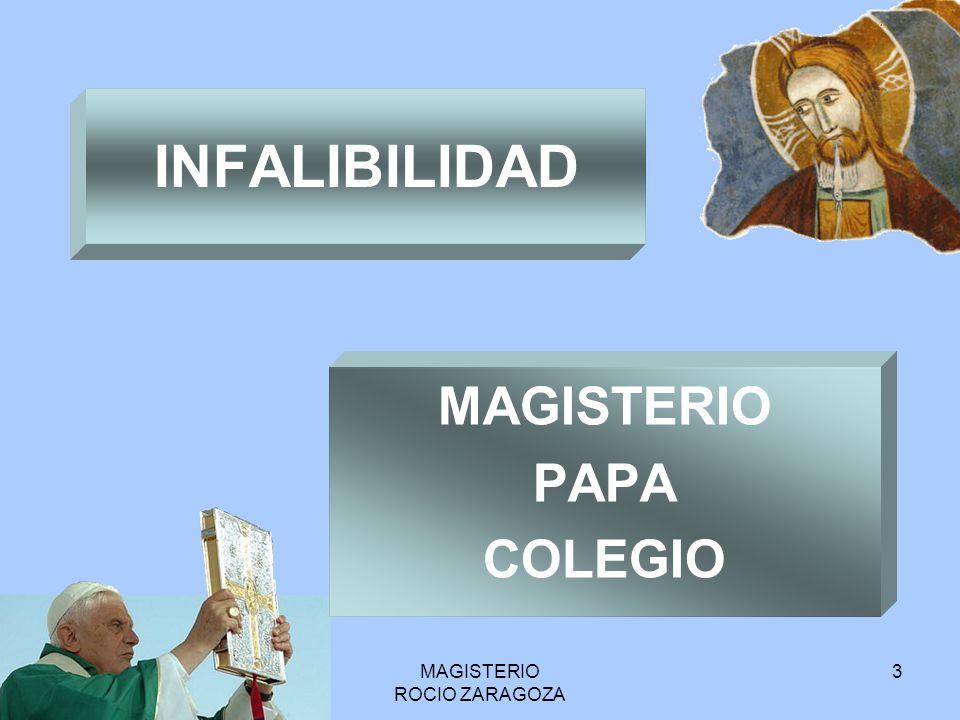 MAGISTERIO PAPA COLEGIO