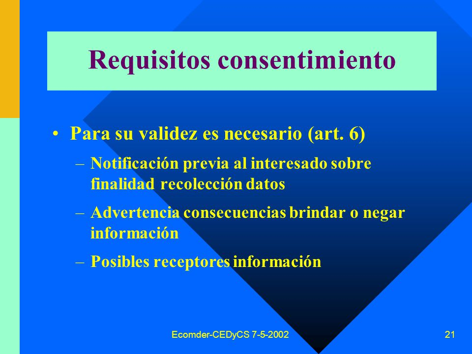 Requisitos consentimiento