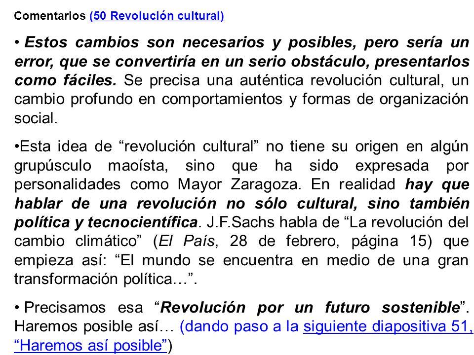 Comentarios (50 Revolución cultural)