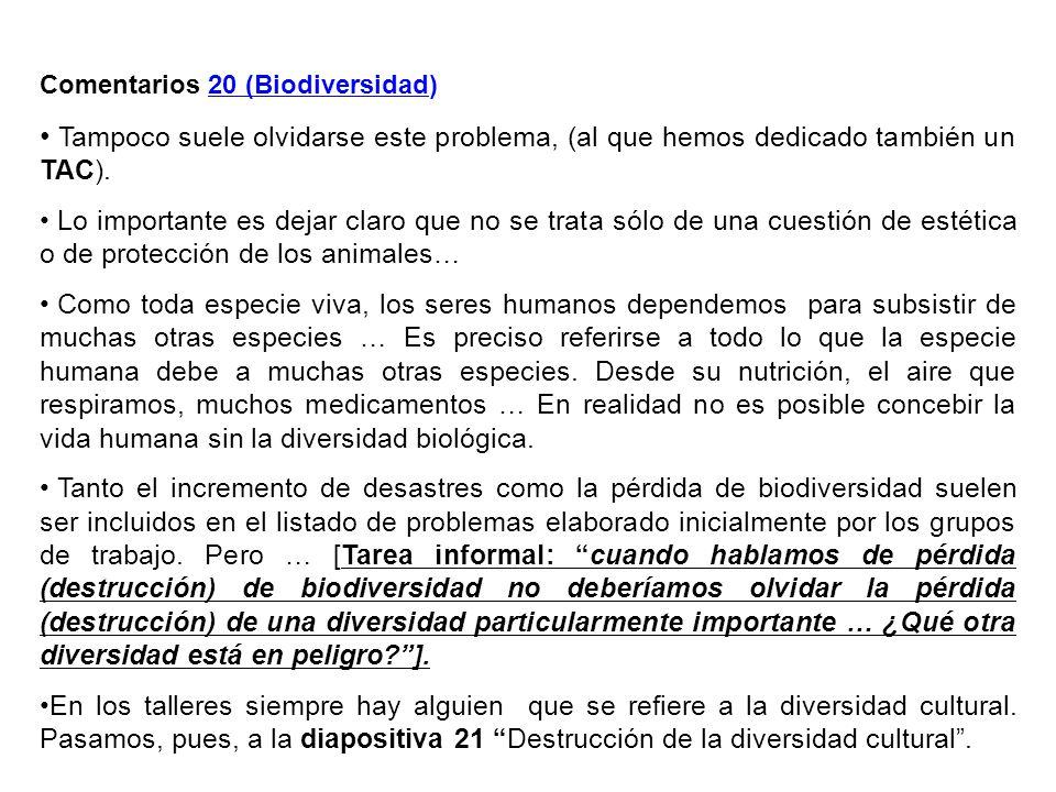 Comentarios 20 (Biodiversidad)