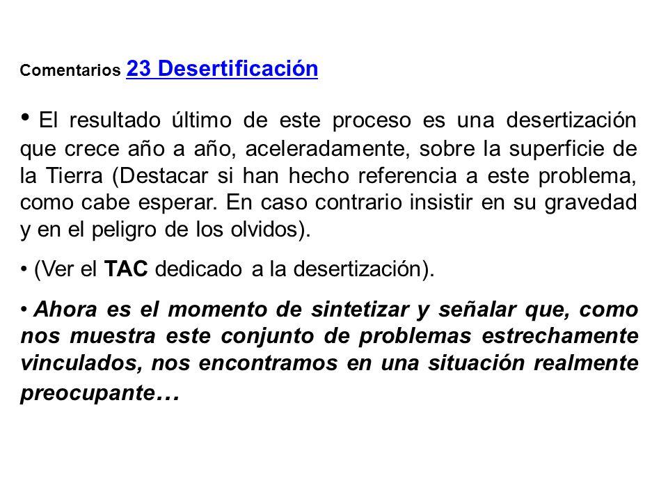 Comentarios 23 Desertificación