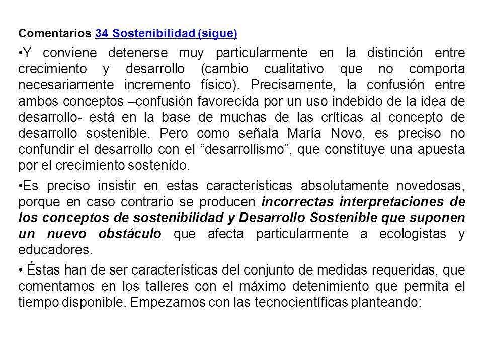 Comentarios 34 Sostenibilidad (sigue)