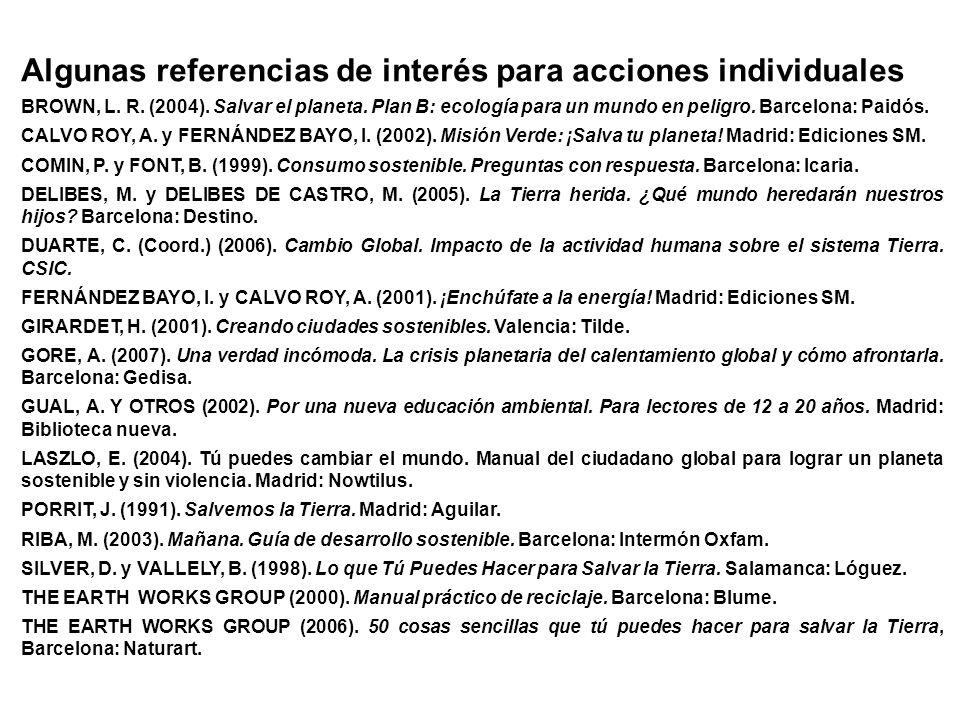 Algunas referencias de interés para acciones individuales