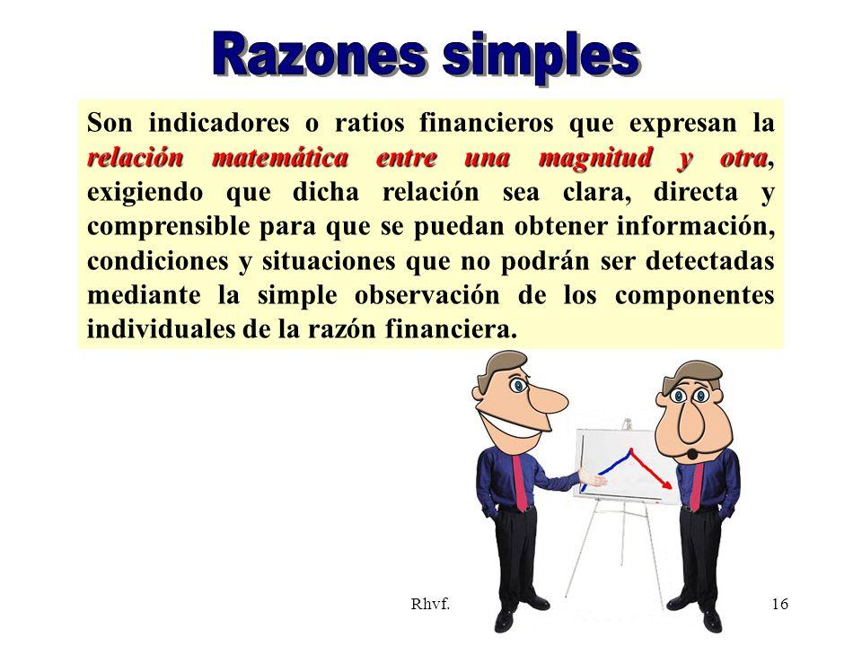 Razones simples