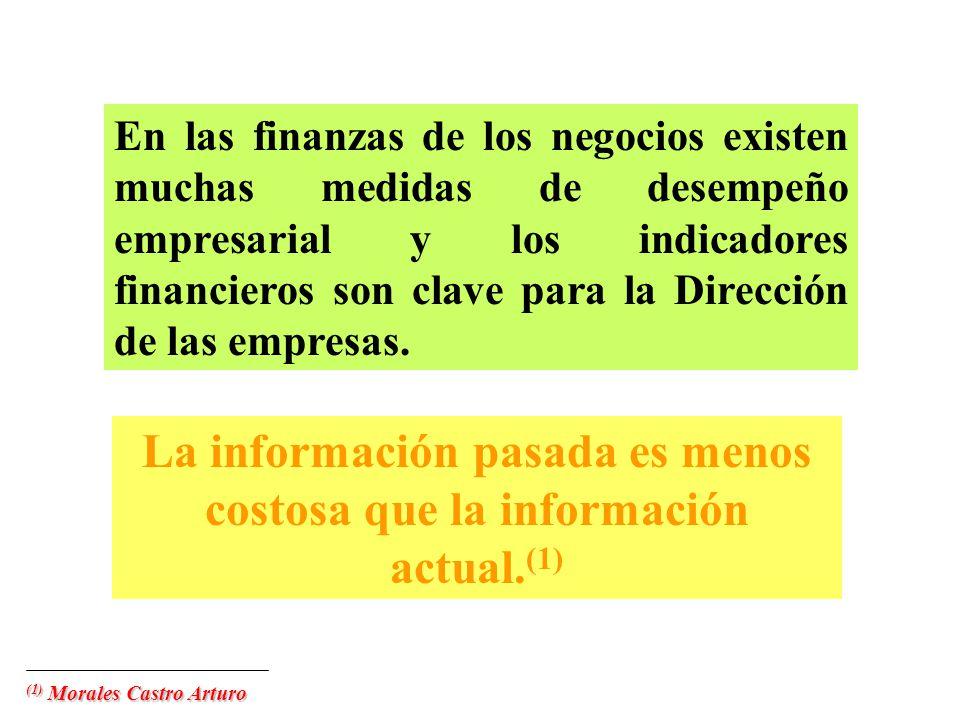 La información pasada es menos costosa que la información actual.(1)