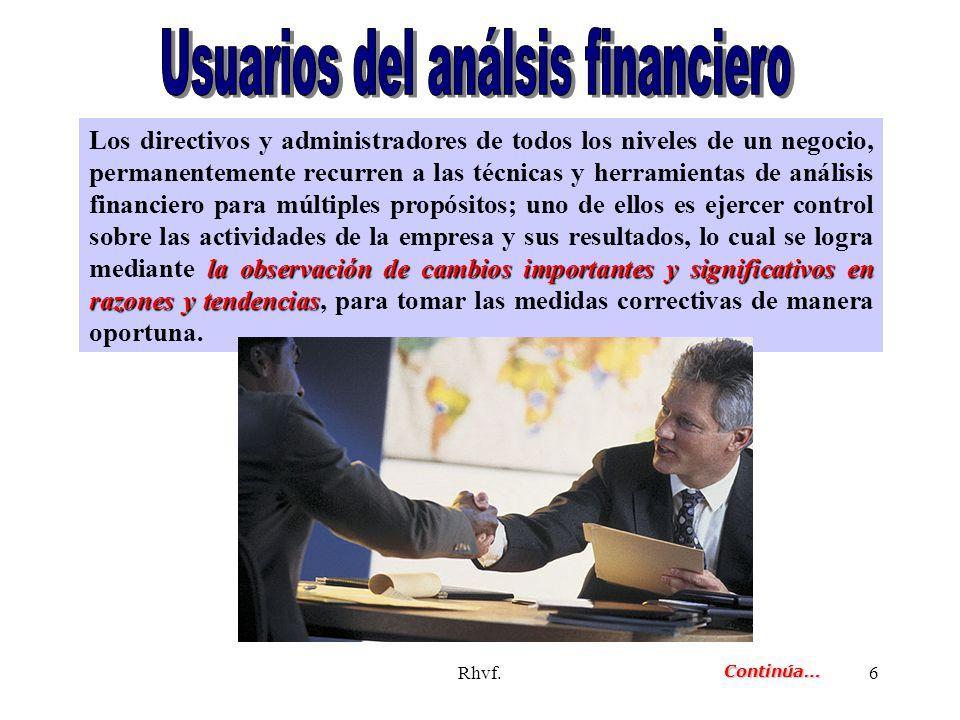 Usuarios del análsis financiero