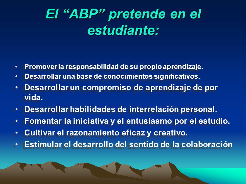 El ABP pretende en el estudiante:
