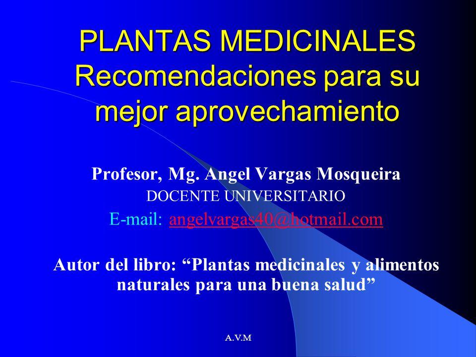 PLANTAS MEDICINALES Recomendaciones para su mejor aprovechamiento