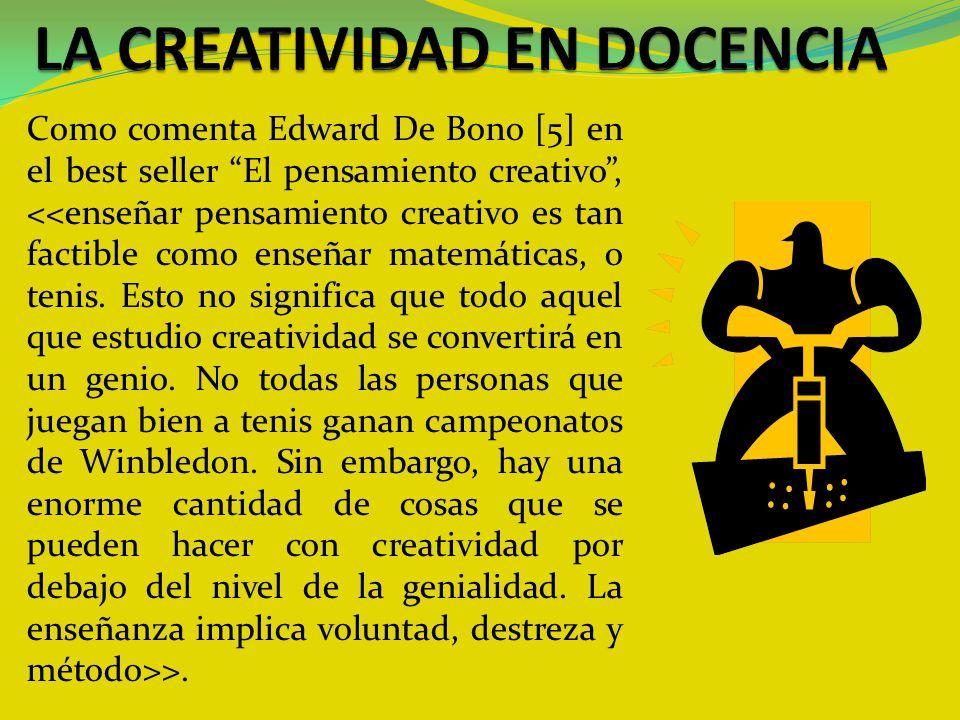 LA CREATIVIDAD EN DOCENCIA