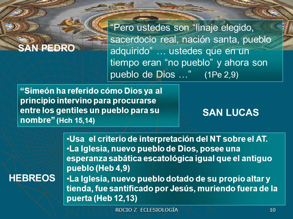 Pero ustedes son linaje elegido, sacerdocio real, nación santa, pueblo adquirido … ustedes que en un tiempo eran no pueblo y ahora son pueblo de Dios … (1Pe 2,9)
