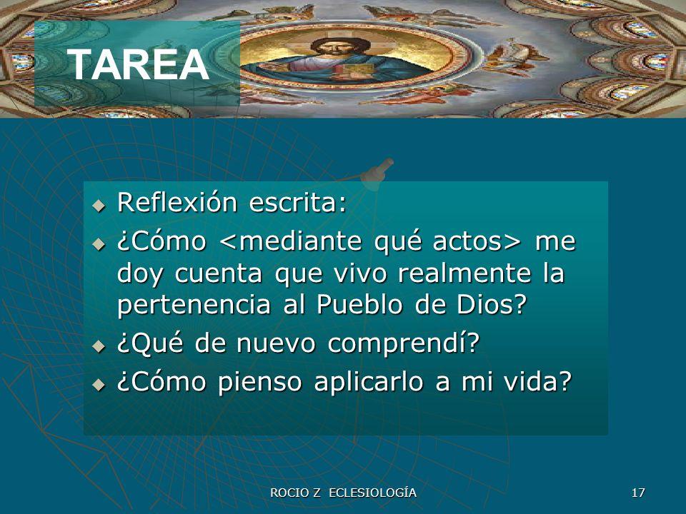 TAREA Reflexión escrita: