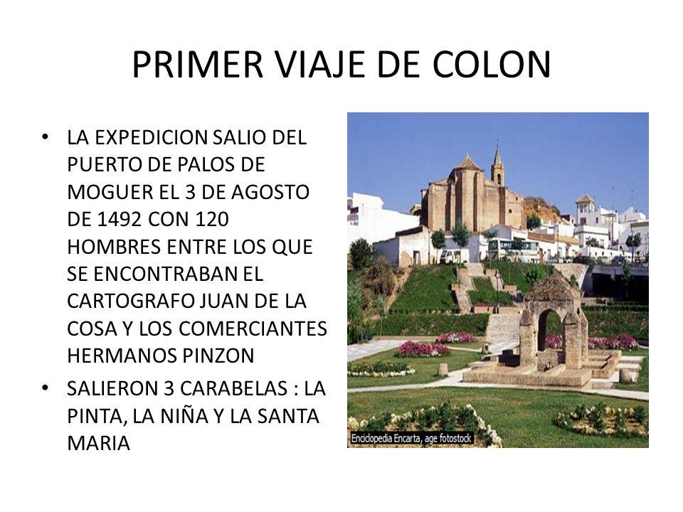 PRIMER VIAJE DE COLON