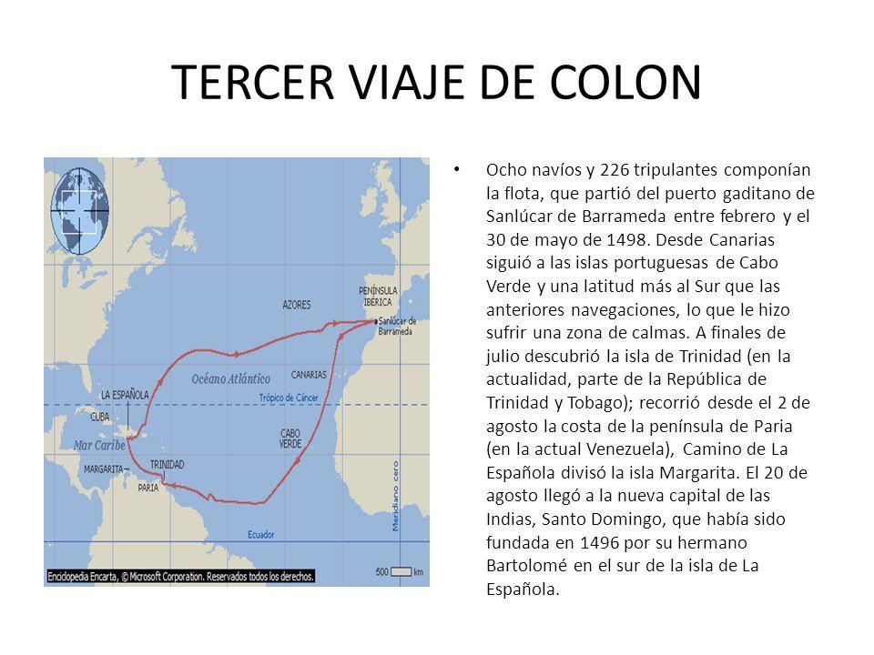 TERCER VIAJE DE COLON