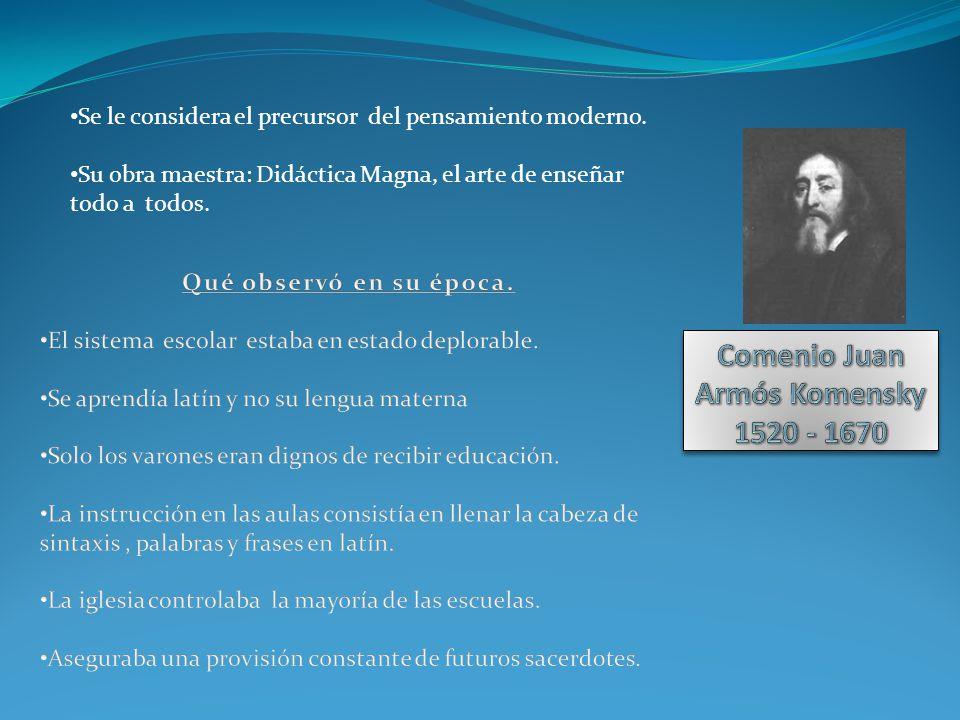 Comenio Juan Armós Komensky 1520 - 1670