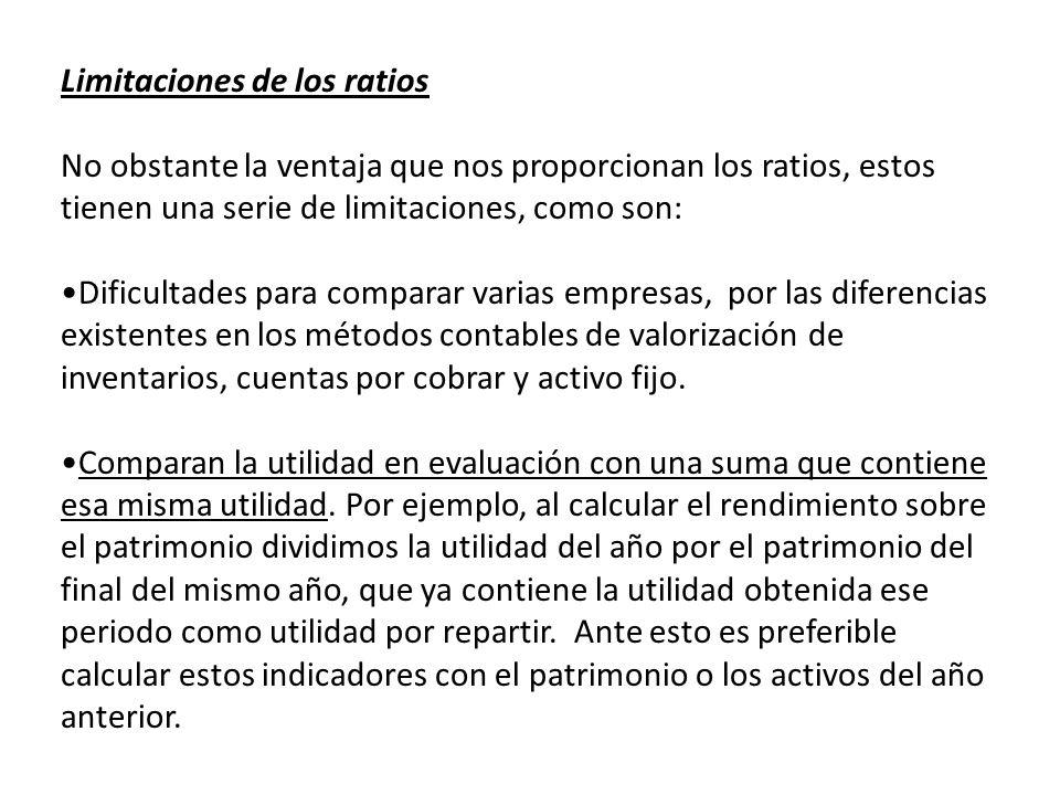 Limitaciones de los ratios