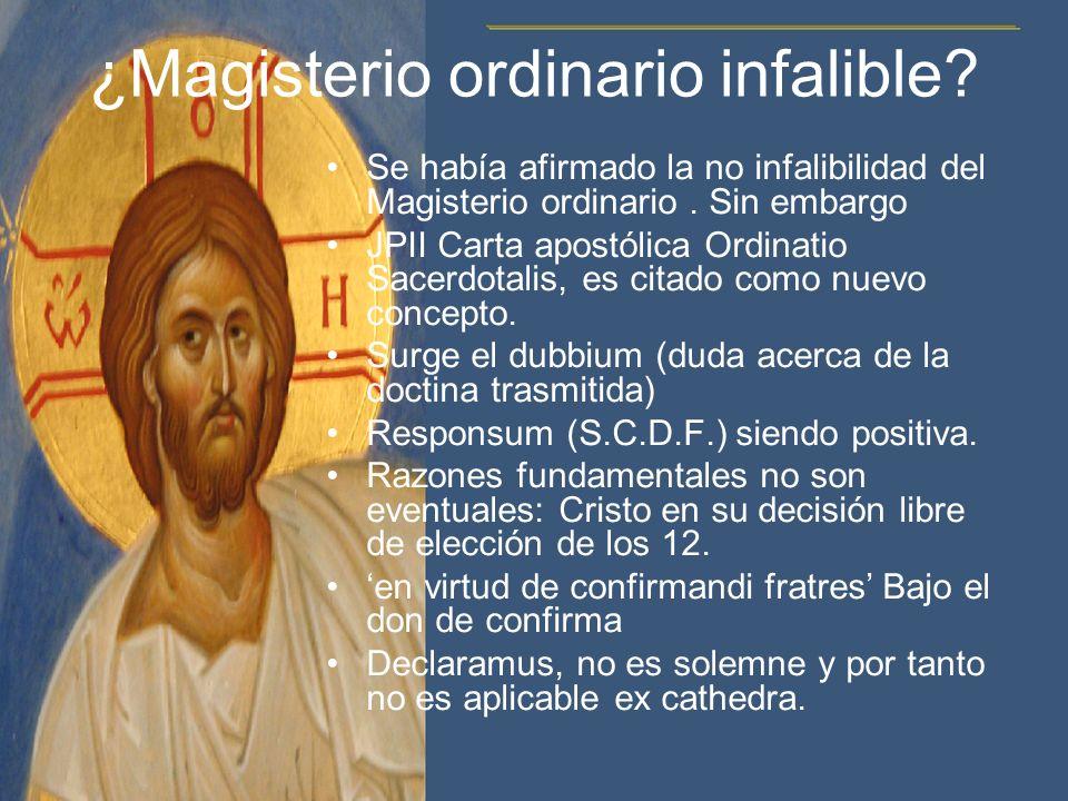 ¿Magisterio ordinario infalible
