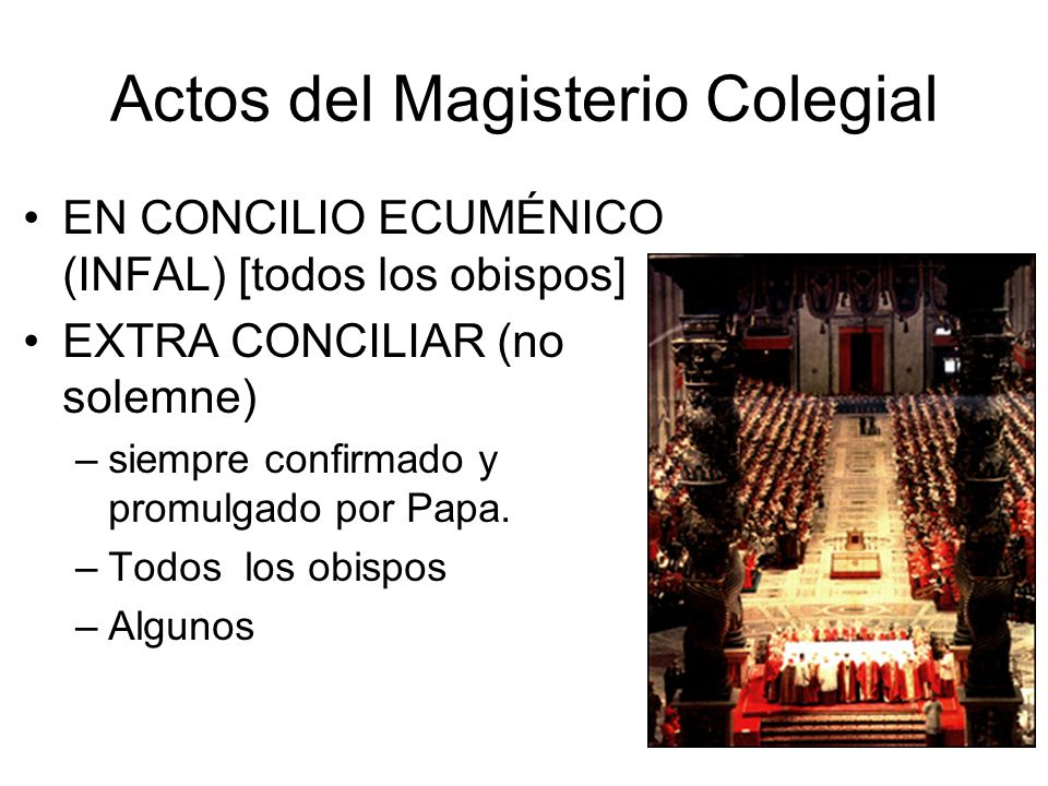 Actos del Magisterio Colegial