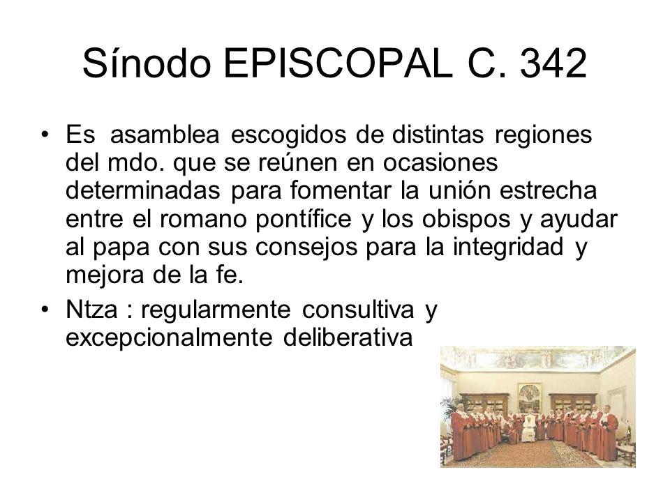 Sínodo EPISCOPAL C. 342