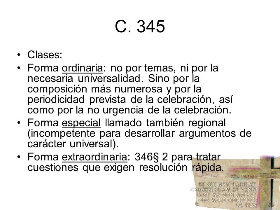 C. 345 Clases: