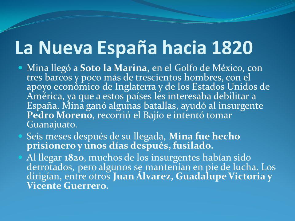 La Nueva España hacia 1820