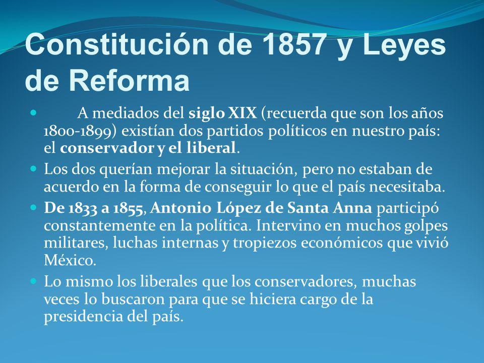 Constitución de 1857 y Leyes de Reforma