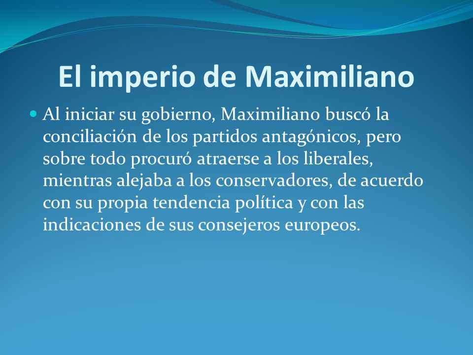 El imperio de Maximiliano