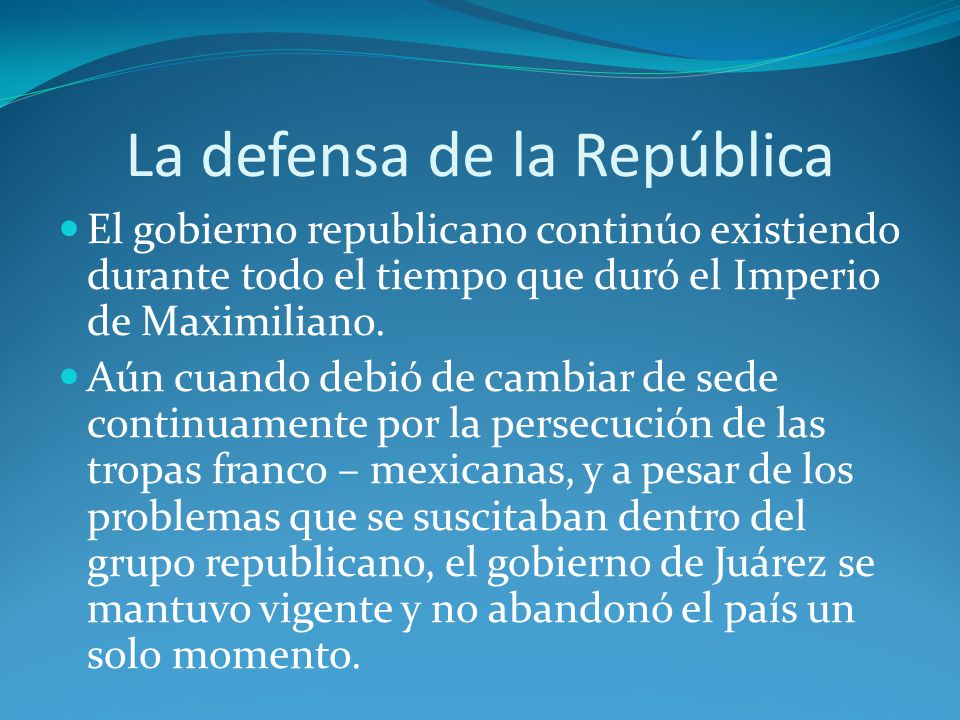 La defensa de la República