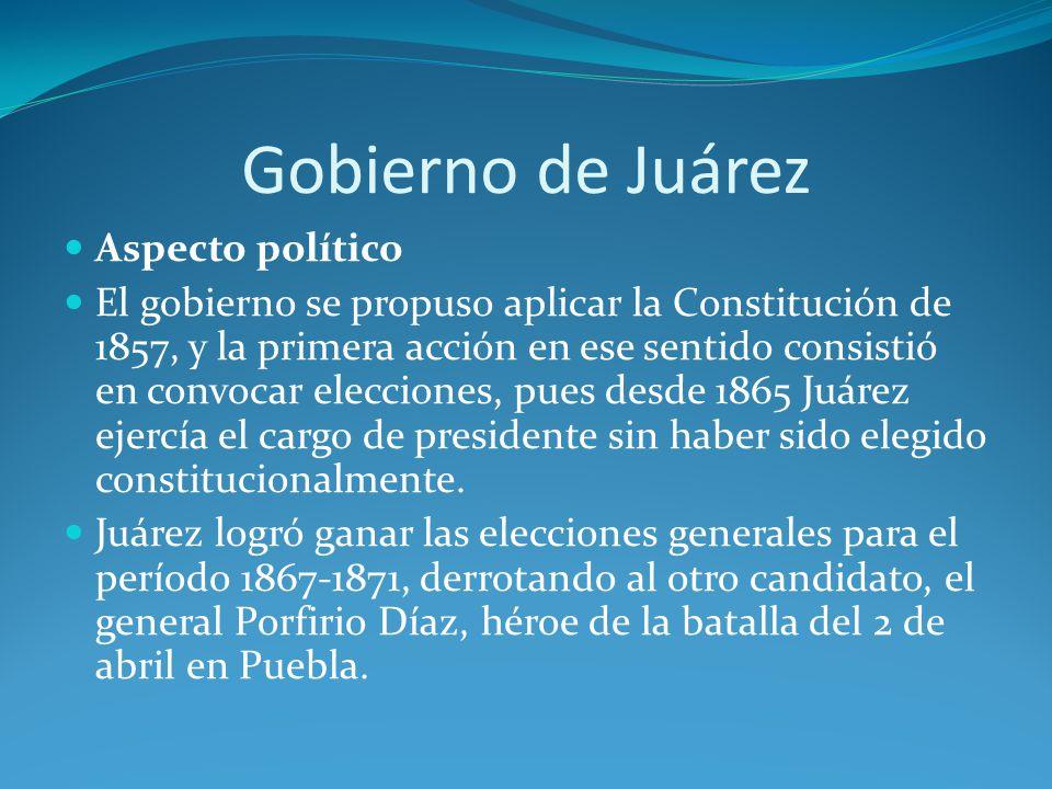Gobierno de Juárez Aspecto político