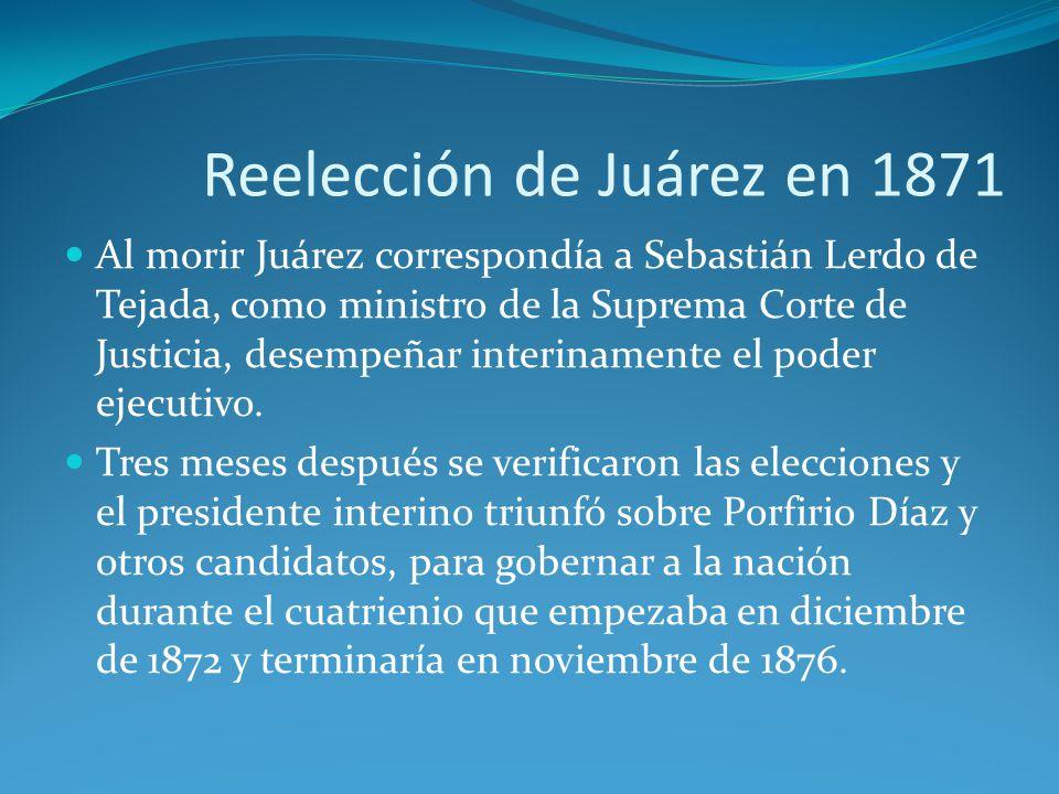 Reelección de Juárez en 1871