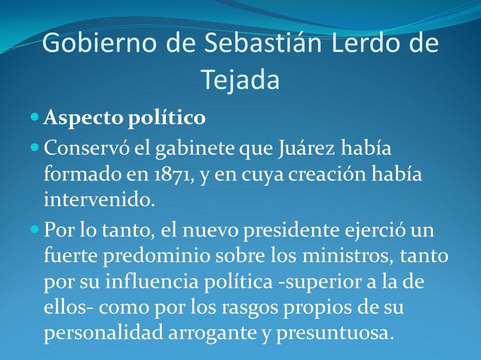 Gobierno de Sebastián Lerdo de Tejada