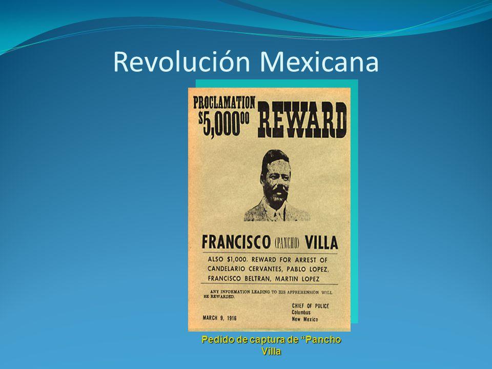 Pedido de captura de Pancho Villa