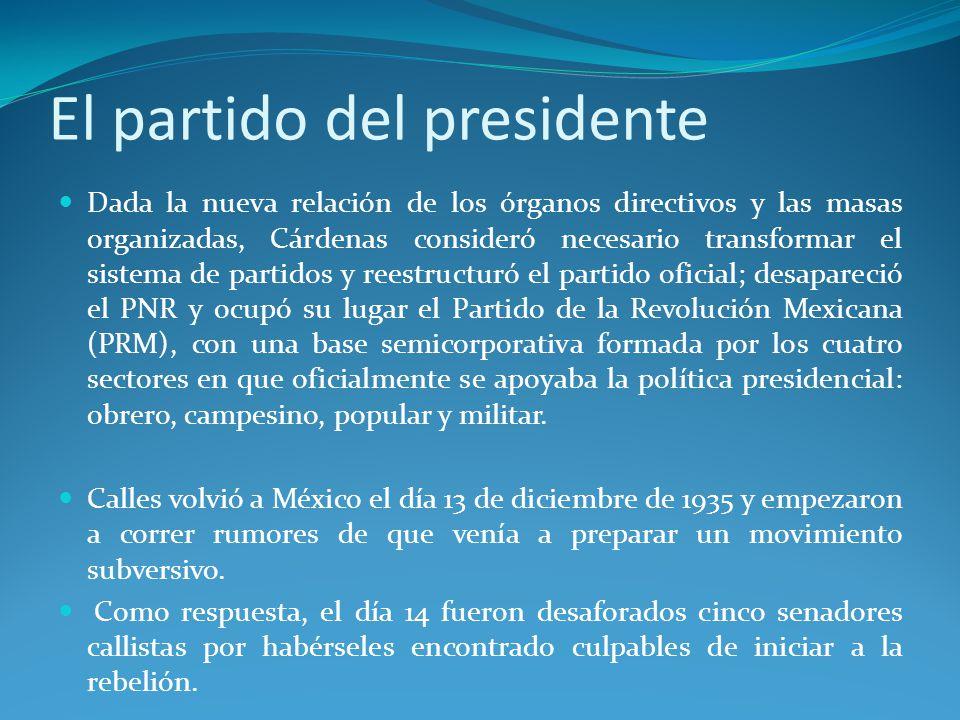 El partido del presidente