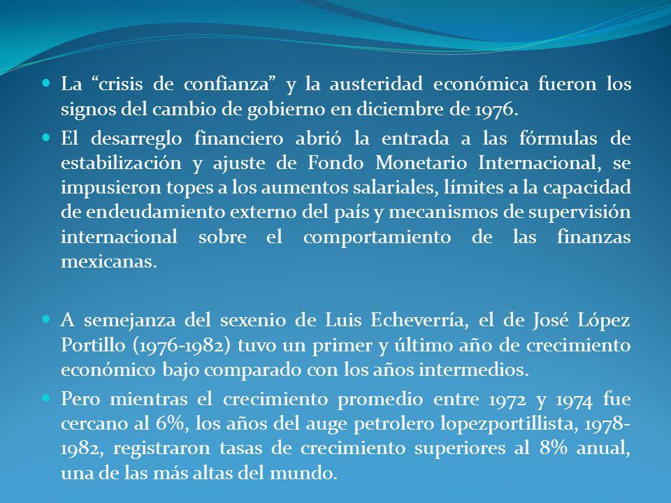 La crisis de confianza y la austeridad económica fueron los signos del cambio de gobierno en diciembre de 1976.