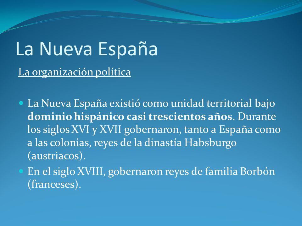 La Nueva España La organización política