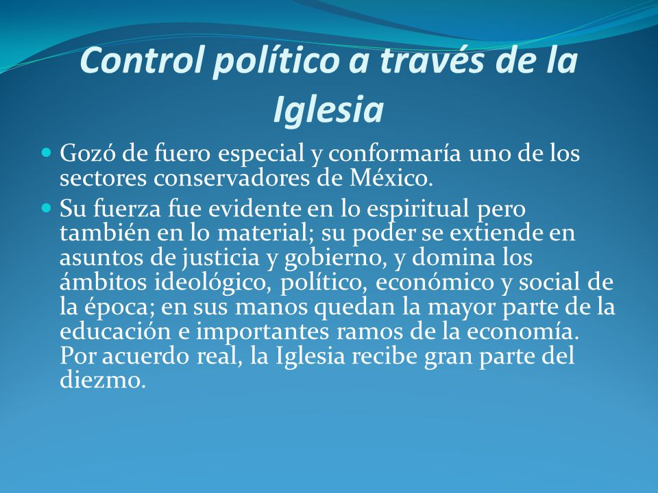 Control político a través de la Iglesia