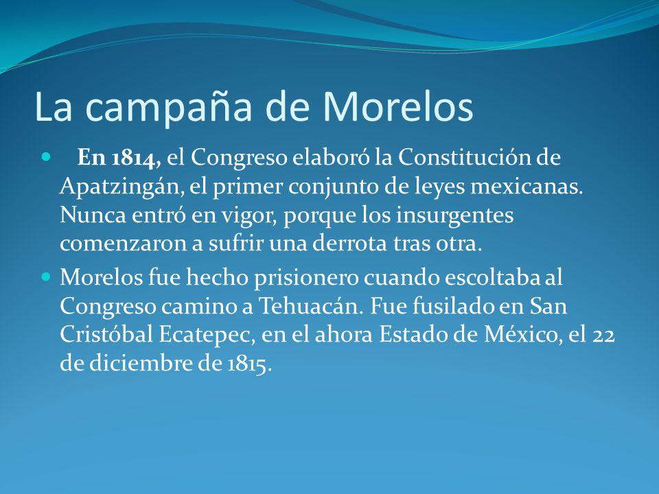 La campaña de Morelos