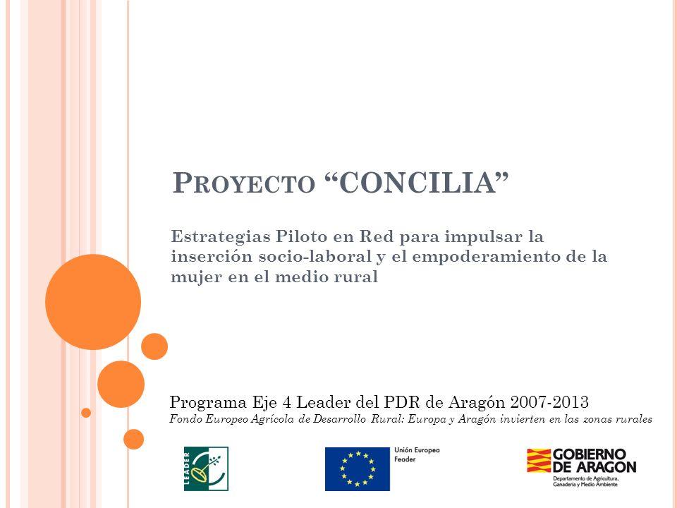 Proyecto CONCILIA Estrategias Piloto en Red para impulsar la inserción socio-laboral y el empoderamiento de la mujer en el medio rural.