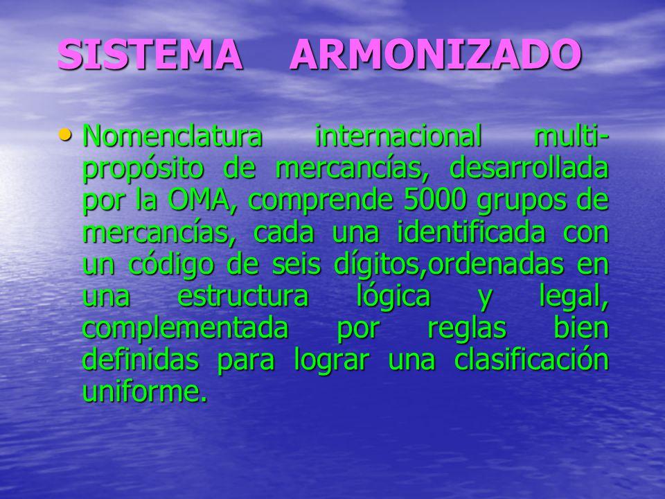 SISTEMA ARMONIZADO