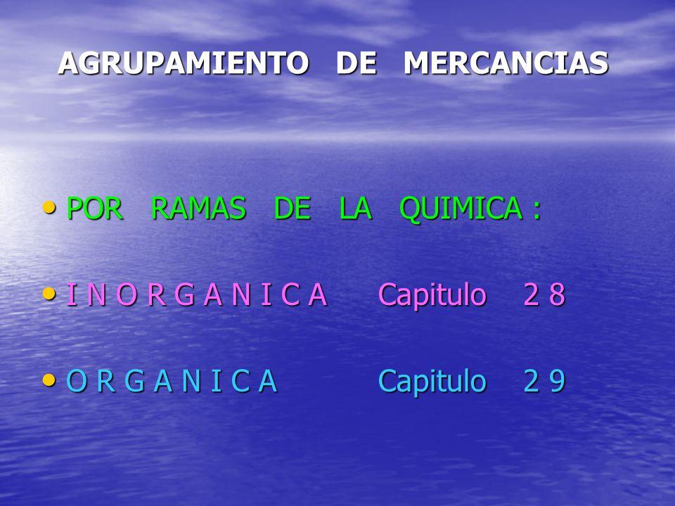 AGRUPAMIENTO DE MERCANCIAS