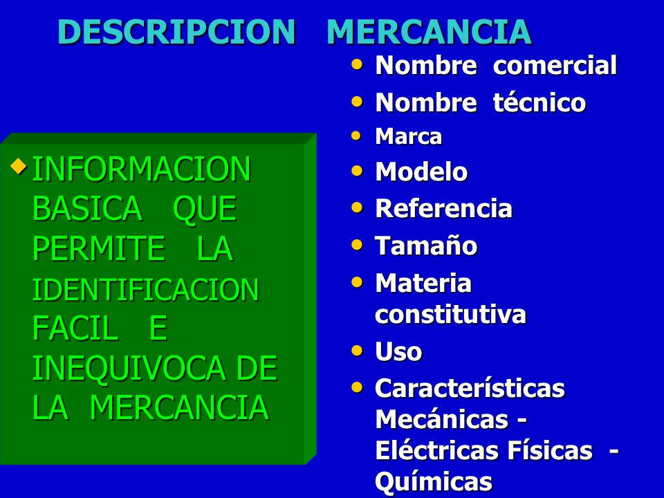 DESCRIPCION MERCANCIA