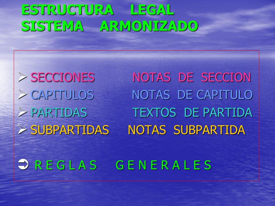 ESTRUCTURA LEGAL SISTEMA ARMONIZADO