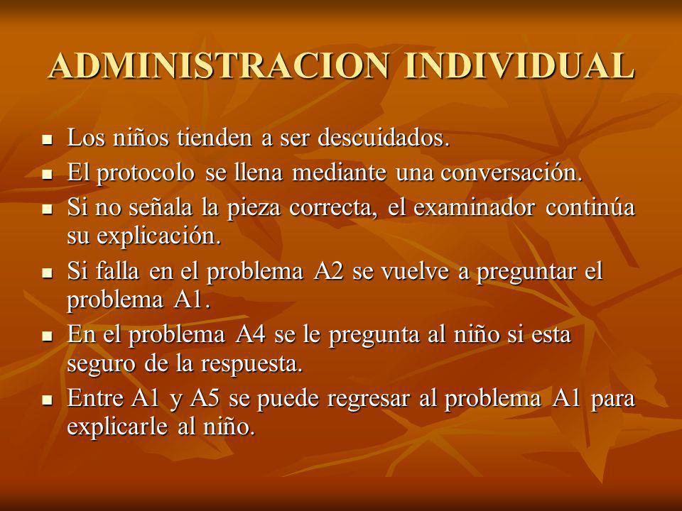 ADMINISTRACION INDIVIDUAL