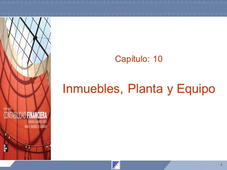 Inmuebles, Planta y Equipo